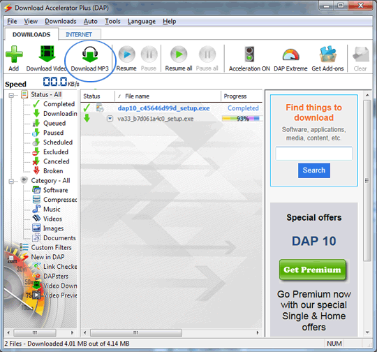 Chrome dap download button dap download manager & accelerator.