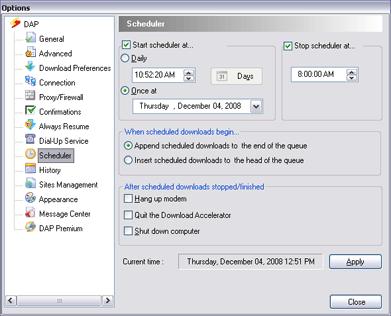 scheduler. Scheduler